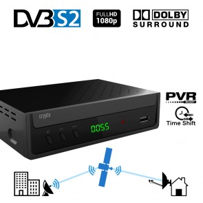CRYPTO DVB-S2 RECEIVER [ReDi S100P] H.264 FHD PVR Ready with Dolby, W007179,