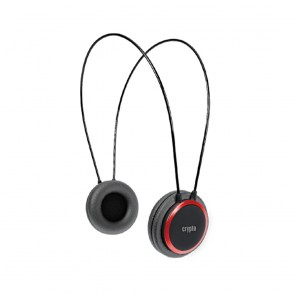 CRYPTO HEADPHONE [HP-100 Black/Red]  On-Ear Close, W005963,