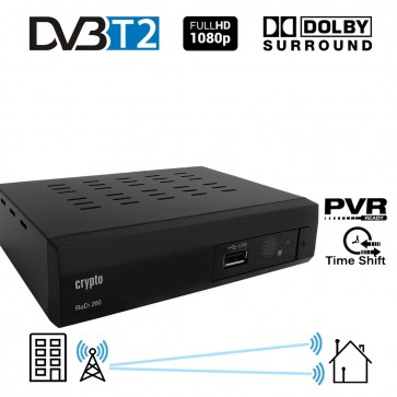 CRYPTO DVB-T2 RECEIVER [ReDi 260P] FHD with Dolby, W007013, by CRYPTO